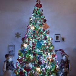 고급 산타선물 300cm (양면) 풀세트 크리스마스트리