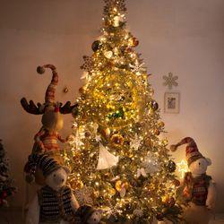 고급 골드설정별 300cm (단면) 풀세트 크리스마스트리