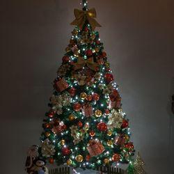 고급 포인꽃PVC 300cm (단면) 풀세트 크리스마스트리