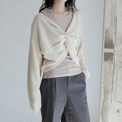 twist knit top (4colors)