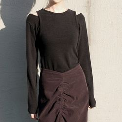 layered double tee (black)