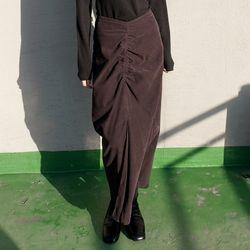 corduroy shirring skirts (2colors)
