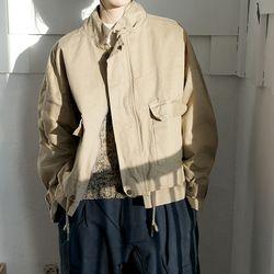string crop jacket (beige)