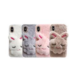 아이폰6S 보송보송 토끼 퍼 커퍼 젤리 케이스 P363