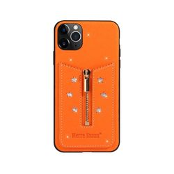 아이폰8플러스 지퍼 카드수납 가죽 케이스 P356