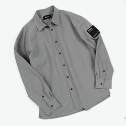 NYLON COMFY SHIRTS (LIGHT GREY)