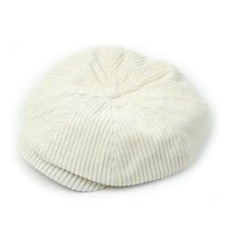 Heavy Corduroy White Newsboy Cap 뉴스보이캡