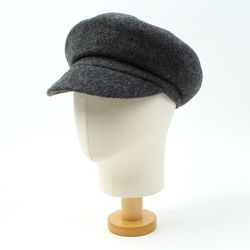 Wool Round Gray Newsboy Cap 뉴스보이캡