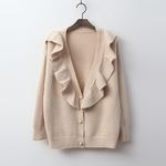 Wool Frill Princess Cardigan