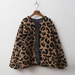 Leopard Shearling Jumper - 누빔안감
