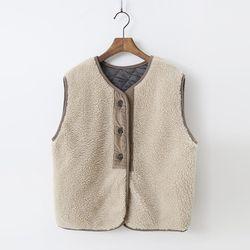 Teddy Bear Vest - 누빔안감