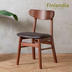 핀란디아 데니스 월넛 원목 의자