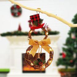 크리스마스 눈사람 문장식 LED 팬던트