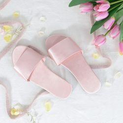 실크 홈 슬리퍼 핑크
