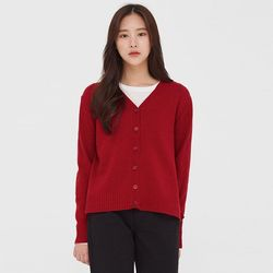 pome v-neck wool cardigan