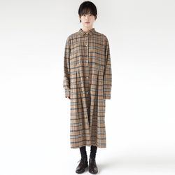 classic check shirt dress (2colors)
