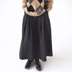 fall denim long skirts (2colors)