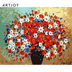 아트조이 DIY 명화그리기 화병의 꽃 60x75cm