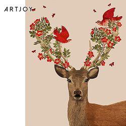 아트조이 DIY 명화그리기 붉은 꽃사슴 60x75cm
