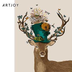 아트조이 DIY 명화그리기 모자 쓴 꽃사슴 60x75cm