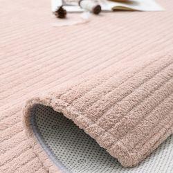 볼륨 핑크 극세사 러그 - 100x150cm