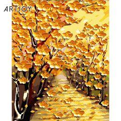 아트조이 DIY 명화그리기 황금꽃길 (골드펄) 60x75cm