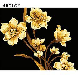 아트조이 DIY 명화그리기 황금꽃 (골드펄) 60x75cm