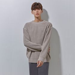 LON soft round knit beige