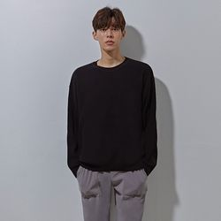 LON soft round knit black