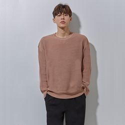 LON soft round knit grey