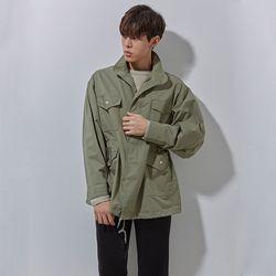 SD bio whshing jacket khaki