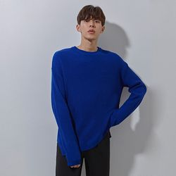 YS basic over knit cobalt