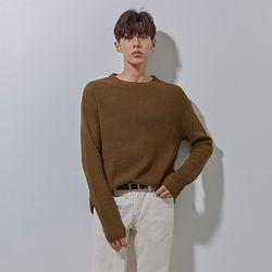 YS basic over knit khaki