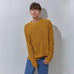 YS basic over knit mustard