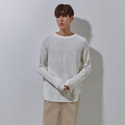 YS basic over knit white