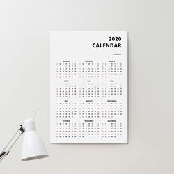 2020 심플 365 캘린더
