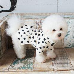 [DOG] 몽페레 플러피 도트원피스 (Milk Cream)