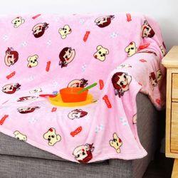 페코짱 극세사 패턴 담요이불 블랭킷 핑크 200x150
