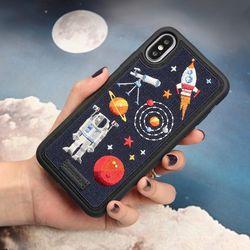 아이폰876 프리미엄 풀자수 우주 케이스