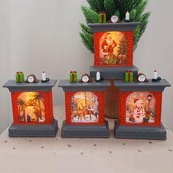 크리스마스 미니 벽난로 LED