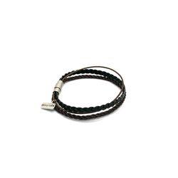 [오뜨르뒤몽드] rope layered men bracelet (brown)