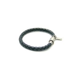 [오뜨르뒤몽드] classic leather men bracelet (black)