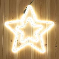 네온플렉스 별 40cm 웜 크리스마스 전구 장식 TRDELB