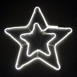 네온플렉스 별 40cm 백색 크리스마스 전구 TRDELB