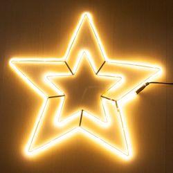 네온플렉스 별 55cm 웜 크리스마스 전구 장식 TRDELB