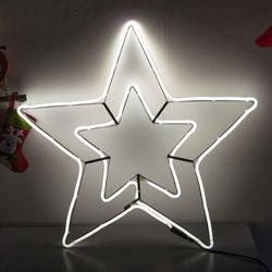네온플렉스 별 55cm 백색 크리스마스 전구 TRDELB