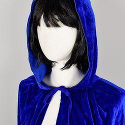 할로윈 의상 벨벳후드 망토 여성용 블루