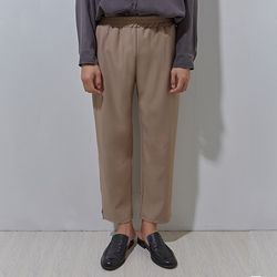 BP 58 wide banding slacks beige