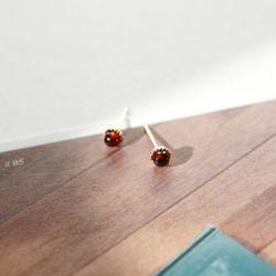 제이로렌 91M01802 1월탄생석 가넷 로즈골드 귀걸이