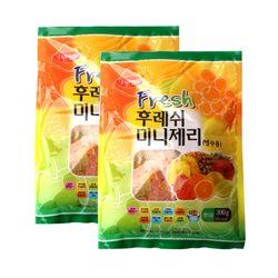팥모아 빙수용 과일맛 젤리 500g 2개세트 팥빙수